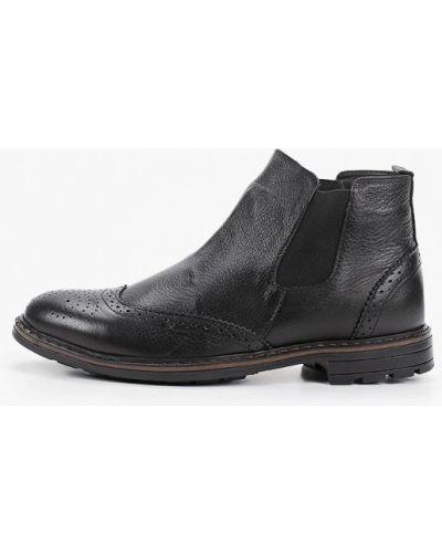 Черные кожаные ботинки челси Valser