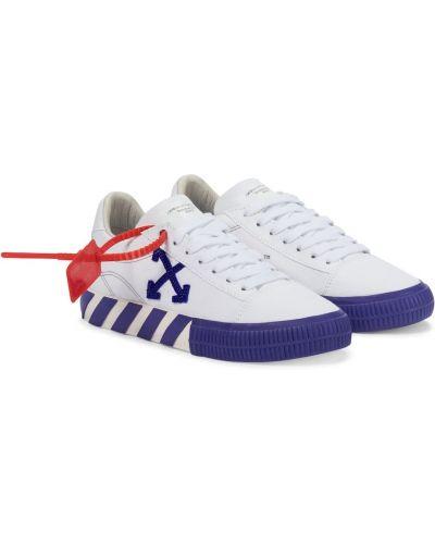 Текстильные белые кроссовки Off-white