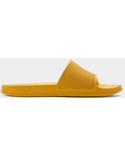 Пляжные шлепанцы - желтые Coqui