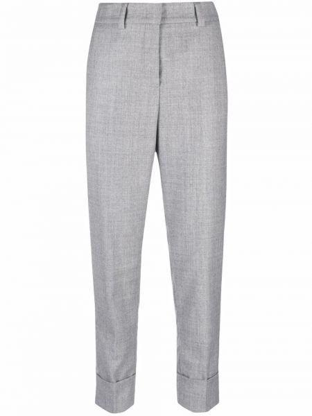 Серые брюки металлические Peserico