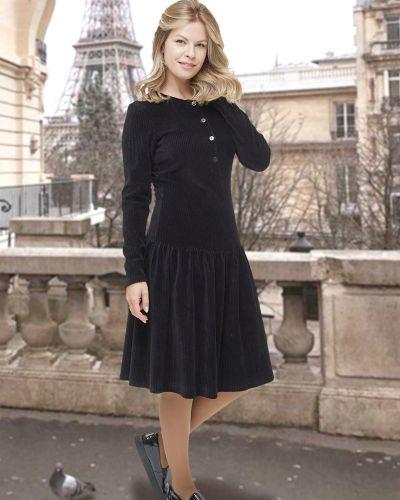 Приталенное повседневное с рукавами платье миди Mix-mode