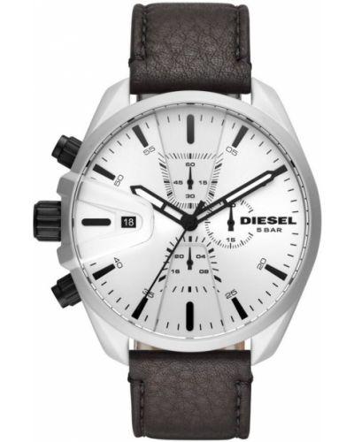 Szary zegarek skórzany Diesel
