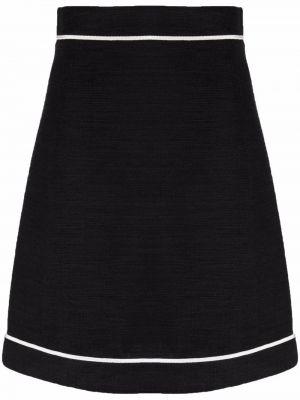 Ватная хлопковая черная юбка Salvatore Ferragamo