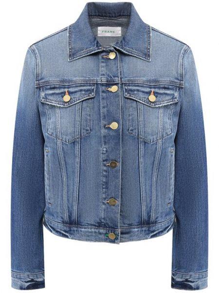 Хлопковая джинсовая куртка - синяя Frame Denim