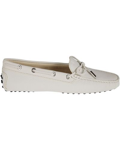 Białe loafers Tod's