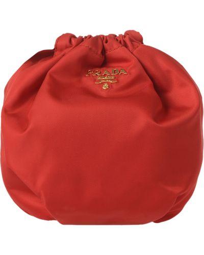 Клатч красный Prada