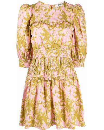 Zielona sukienka w kwiaty bawełniana Dvf Diane Von Furstenberg