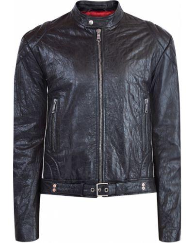 Кожаная куртка трикотажная со вставками Gucci