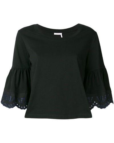 Блузка с вышивкой черная See By Chloé