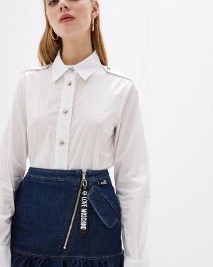 Рубашка с длинным рукавом белая Love Moschino