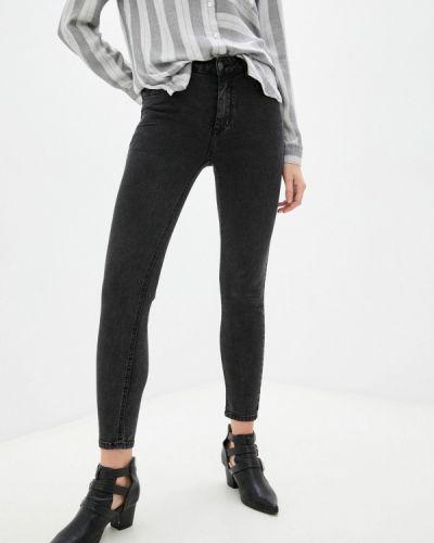 Черные зимние зауженные джинсы Miss Bon Bon