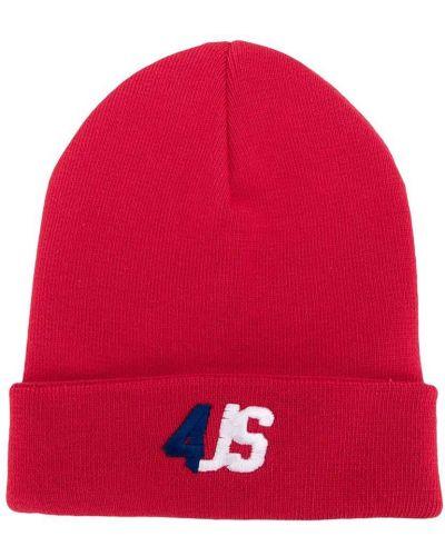 Красная тонкая хлопковая шапка с вышивкой Cesare Paciotti 4us Kids