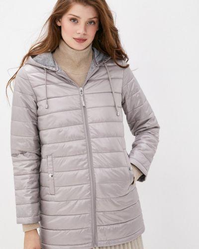 Бежевая теплая утепленная куртка снежная королева