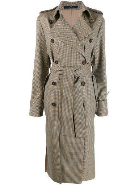 Шерстяной пальто классическое с воротником двубортный Rokh