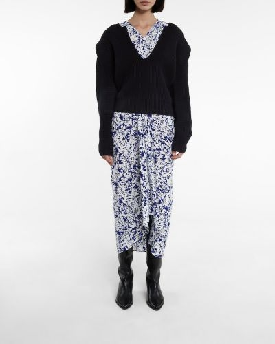 Черный шерстяной свитер Isabel Marant
