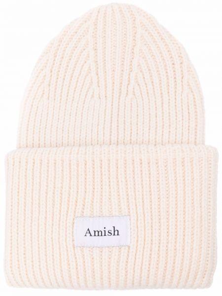 Czapka beanie - biała Amish