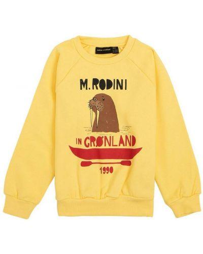 Żółta bluza z printem Mini Rodini
