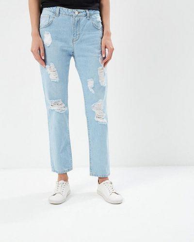 Голубые рваные джинсы Silvian Heach