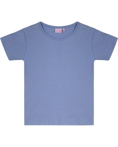 Фиолетовая трикотажная базовая футболка Losan