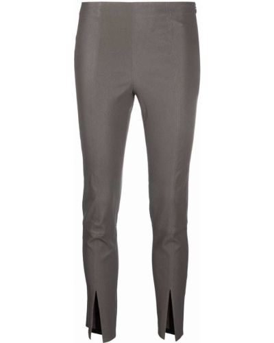 Кожаные брюки - серые Theory