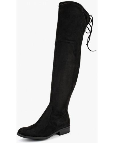 Ботфорты на каблуке черные демисезонный Bellamica