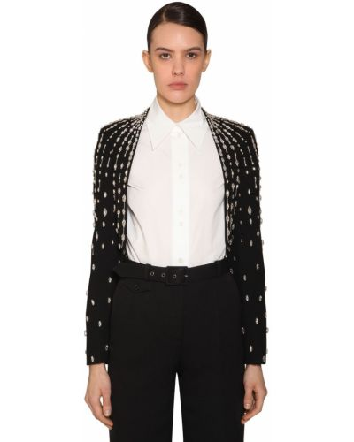 Długa kurtka zapinana na guziki srebro Givenchy