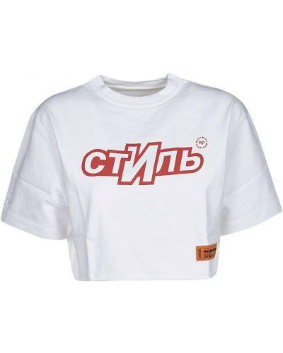 Biała t-shirt Heron Preston