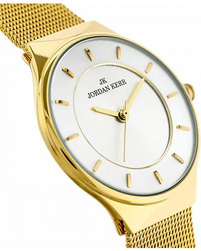 Żółty klasyczny złoty zegarek Jordan Kerr