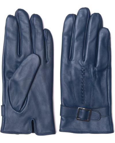 Синие кожаные перчатки Hannelore