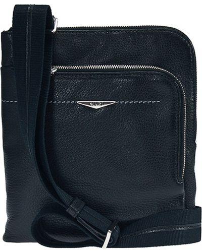 Кожаная сумка текстильная черная Giudi