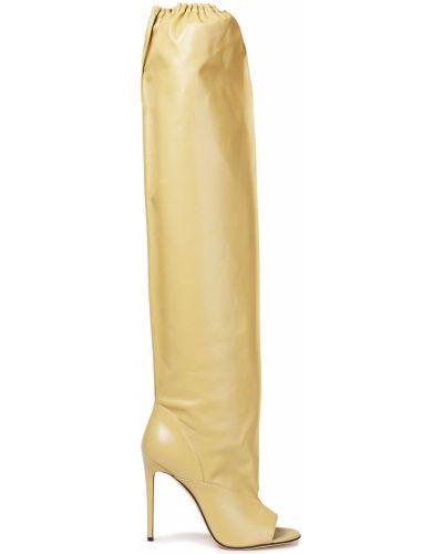 Żółte kozaki skorzane Victoria Beckham