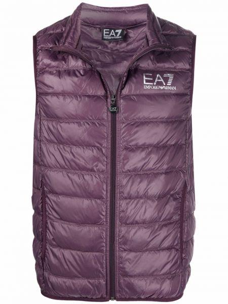 Фиолетовая жилетка без рукавов Ea7 Emporio Armani