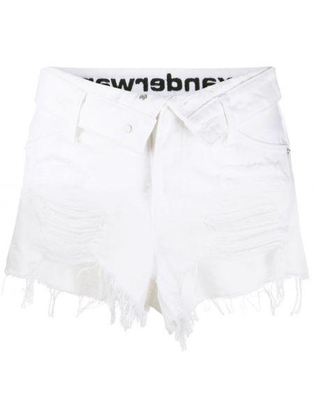 Джинсовые шорты - белые Alexander Wang