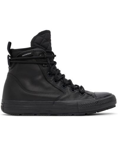 Черные высокие кроссовки на шпильке Converse