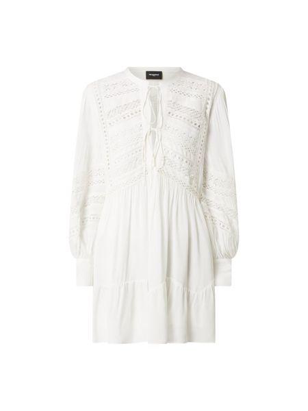 Sukienka rozkloszowana z falbanami - biała The Kooples