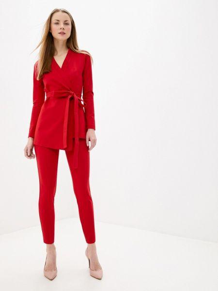 Красный облегающий костюмный брючный костюм Toryz