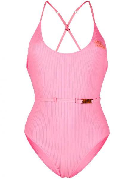 Розовый купальник с вышивкой Love Stories