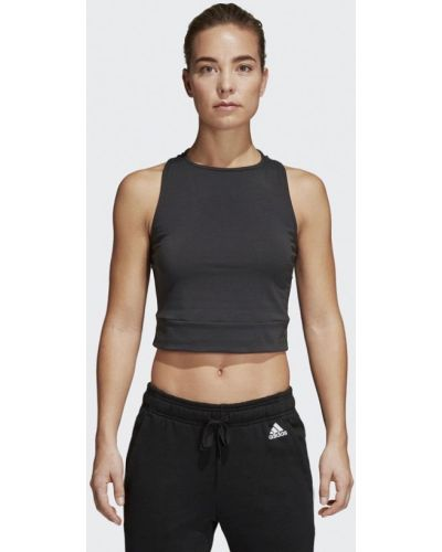 Серая майка спортивная Adidas