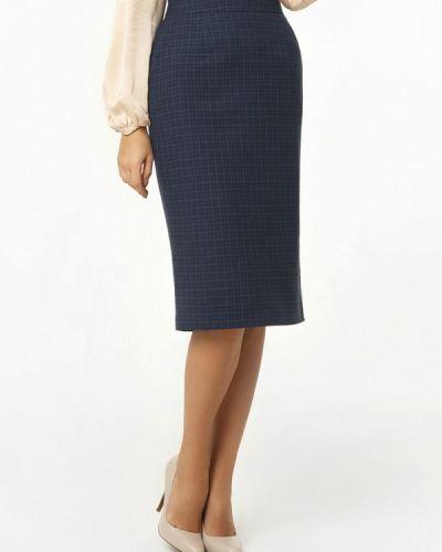 Синяя прямая юбка карандаш A'tani