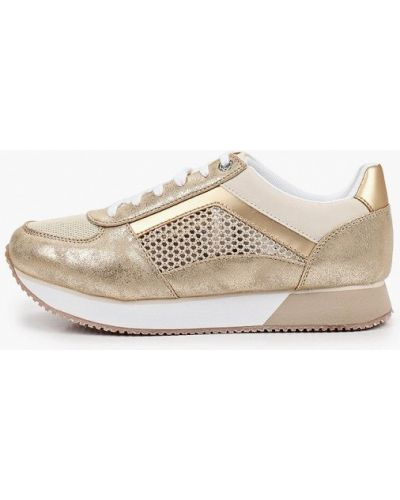 Кожаные кроссовки золотые Nexpero