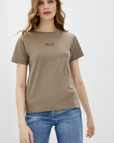 Коричневая футболка с короткими рукавами Savage