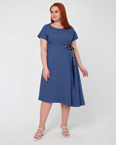 Приталенное повседневное платье с поясом Dora