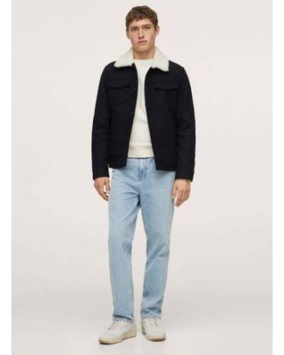 Куртка авиатор - синяя Mango