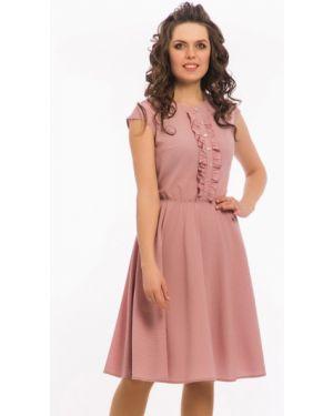 Летнее платье розовое в горошек Modellos