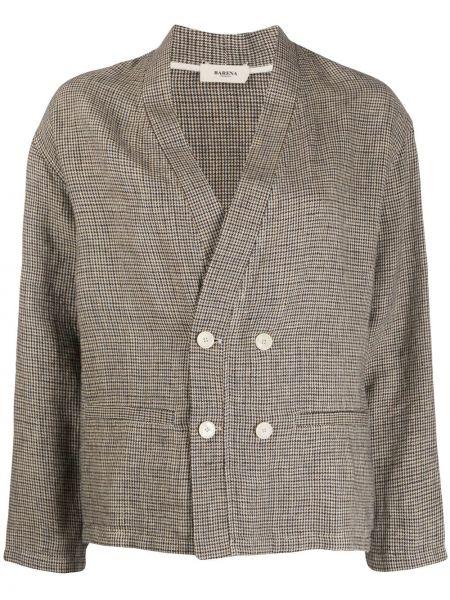 Пиджак в полоску льняной Barena