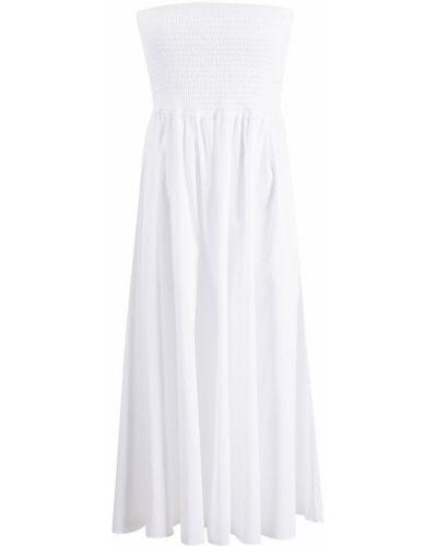 Хлопковое белое платье А-силуэта без рукавов Caroline Constas