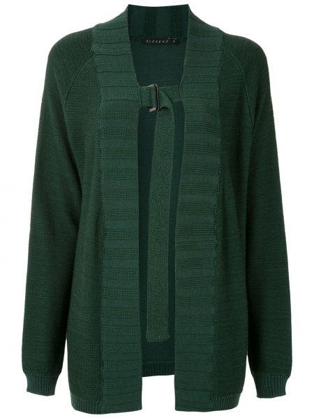 Прямое зеленое вязаное пальто Alcaçuz