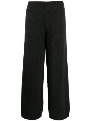 Серые кашемировые свободные брюки свободного кроя с высокой посадкой Barrie