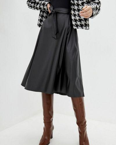 Черная кожаная юбка Zubrytskaya