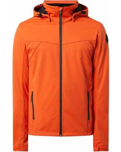 Pomarańczowa kurtka softshell z kapturem Icepeak